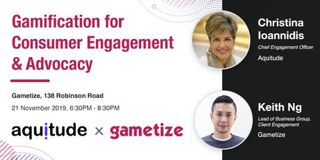 Gamification for Consumer Engagement & Advocacy by Aquitude × Gametize tickets