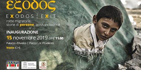 Mostra Fotografica Exodos - rotte migratorie, storie di persone, arrivi, inclusione biglietti