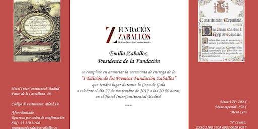 Cena de gala, I Edición de los Premios Fundación Zaballos