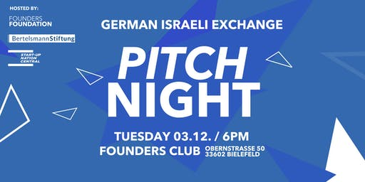 German-Israeli Innovation Exchange Pitch Night