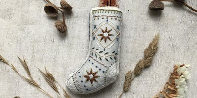 Hand-embroidered Christmas Decorations with Megan Griffiths