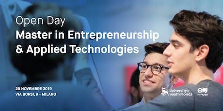 Open Day Master in Entrepreneurship and Applied Technologies biglietti