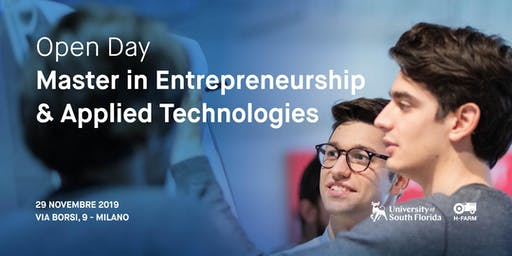 Open Day Master in Entrepreneurship and Applied Technologies