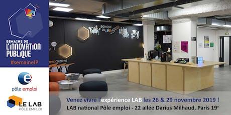 """""""LAB Experience"""" au LAB national de Pôle emploi - Mardi 26/11 après-midi tickets"""