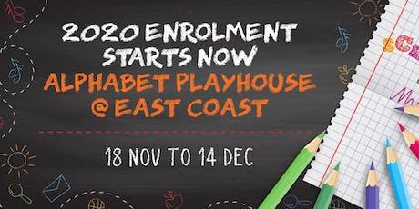 2020 Enrolment (Preschool) - Alphabet Playhouse tickets