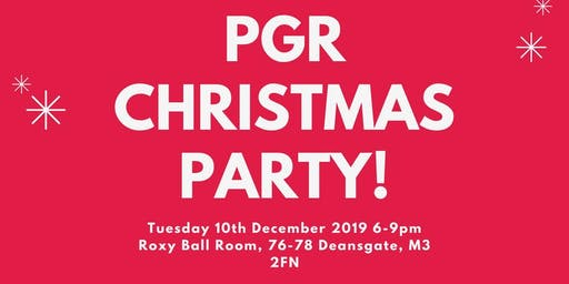 PGR Christmas Party 2019