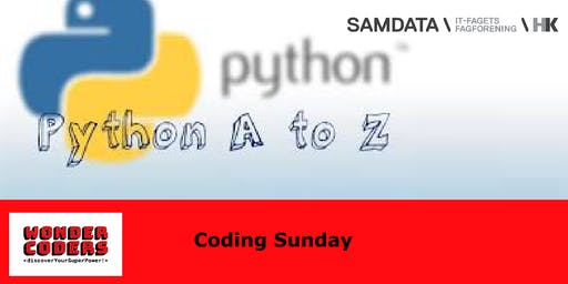 Coding Sunday with WonderCoders: Python for beginners