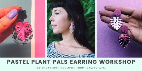 Pastel Plant Pal Earring Workshop tickets