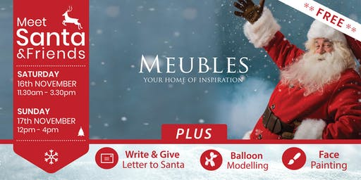 Meet Santa & Friends on Sat & Sun, Nov 16th & 17th in Meubles Kilkenny