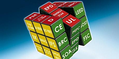 FSC/PEFC, VOC, ISO 14021, LCA/EPD e REACH. Caratteristiche tecniche per vincere sul mercato dei protocolli di green building (LEED, BREEAM, WELL) biglietti