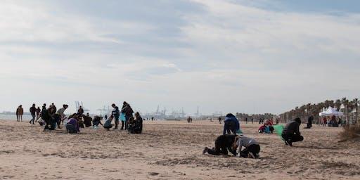 Limpieza de playa en Patacona