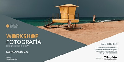 Logo for event Workshop de fotografía móvil y Stock con Sergio R. de Juan