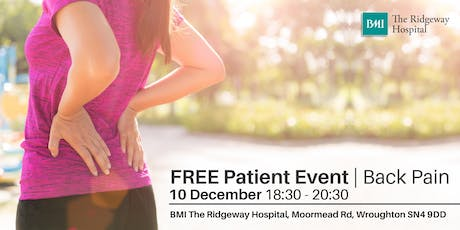 FREE Patient Information Event   Back Pain tickets