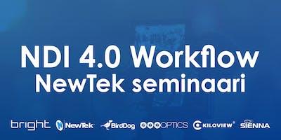 NewTek NDI 4.0 workflow -seminaari