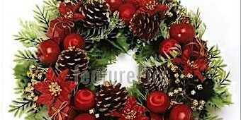 Christmas Workshop Wreath making , table centre piece, and festive cookies.
