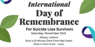 International Day of Remembrance for Survivors of Suicide Loss
