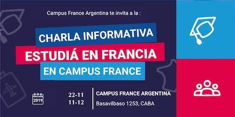 Charlas informativas Campus France Argentina entradas