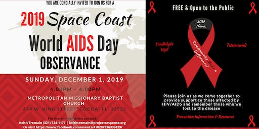 2019 Space Coast/Brevard County World AIDS Day Observance