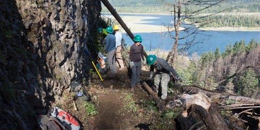 Redirect to Horsetail Falls:  Retaining wall cleanup