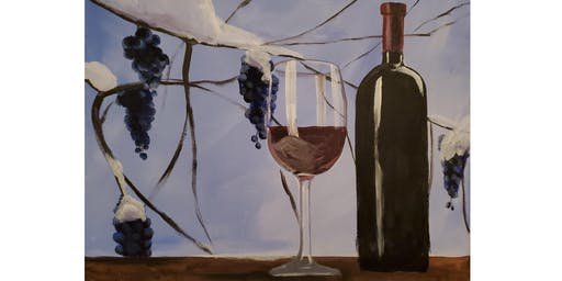 "Adult Open Paint (18yrs+) ""Winter & Wine"""