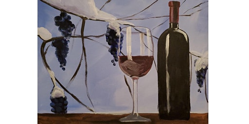 """Adult Open Paint (18yrs+) """"Winter & Wine"""""""
