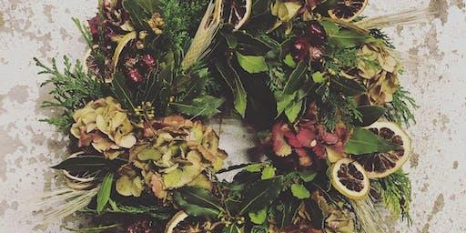 Christmas Wreath Workshop with Gunns Florist