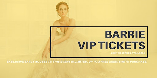 Opportunity Bridal VIP Early Access Barrie Pop Up Wedding Dress Sale