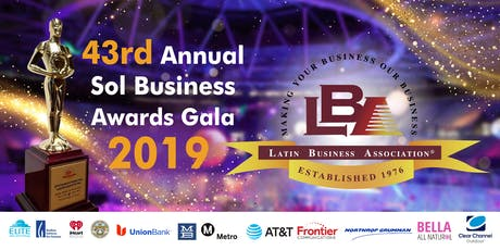 43rd Annual Sol Business Awards Gala 2019 tickets