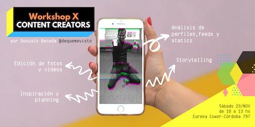 Workshop X Content Creators