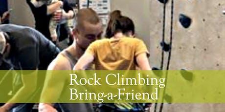 Indoor Rock Wall Climbing: Bring-a-Friend Special tickets