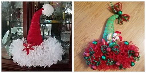 Santa/Elf Hat Wreath
