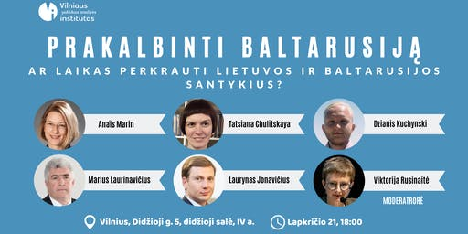 Prakalbinti Baltarusiją: Ar laikas perkrauti santykius?