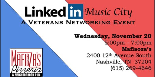 #LinkedInMusicCity A Veteran Networking Event