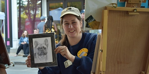 Meet the Pet Portrait Artist and Demonstration
