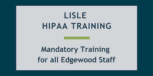 Edgewood Employee HIPAA Training - Lisle Location