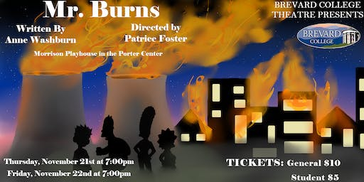 Mr. Burns, a Post Electric Play @ Brevard College 11.23