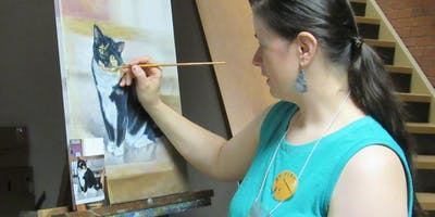 Meet the Pet Portrait Artist & Demonstration