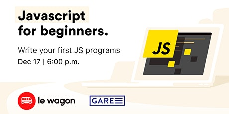 Le Wagon Workshop - JavaScript for beginners tickets