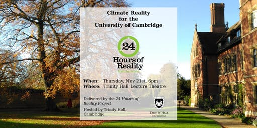 Climate Reality for the University of Cambridge