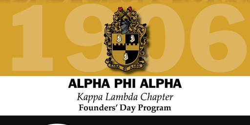 Alpha Phi Alpha Fraternity Inc. Kappa Lambda Chapter Founders Day