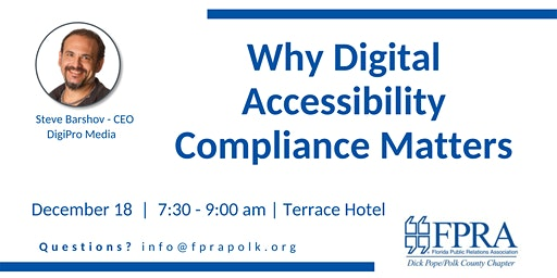 FPRA December Meeting: Why Digital Accessibility Compliance Matters