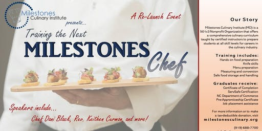 Training the Next MILESTONES Chef!  A Re-Launch Event