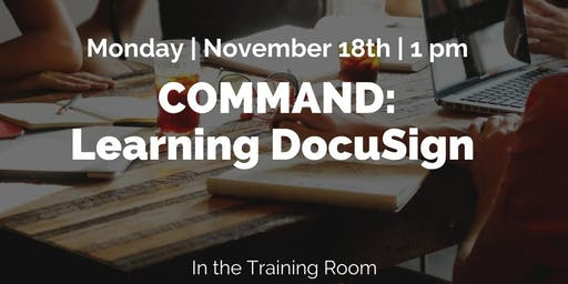 Command: Learning DocuSign