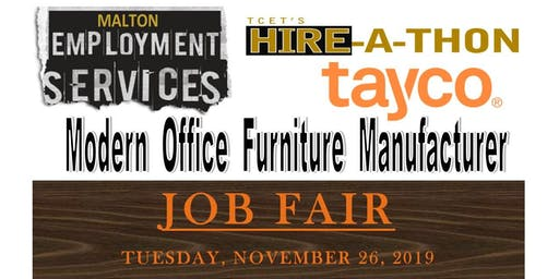 Office Furniture Manufacturer (Tayco)Hiring Event
