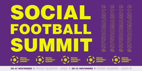 SOCIAL FOOTBALL SUMMIT 2019 biglietti