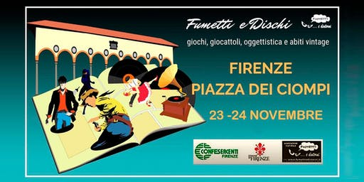Fumetti e dischi in Piazza dei Ciompi, Firenze