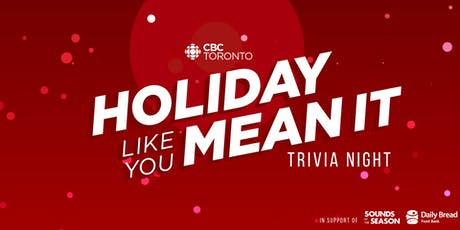 CBC Toronto's Holiday Trivia Night tickets