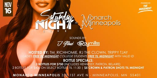 THE MOVEMENT LIFESTYLE BRAND PRESENTS: SATURDAY NIGHT LIVE AT MONARCH