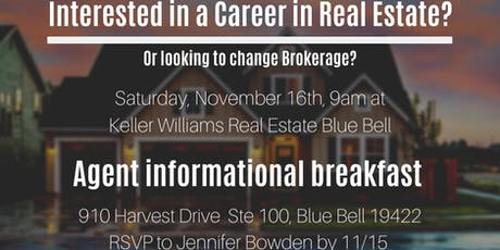Real Estate Agent Informational Breakfast at Keller Williams tickets