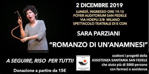 """SPETTACOLO TEATRALE:  """"ROMANZO DI UN'ANAMNESI"""""""